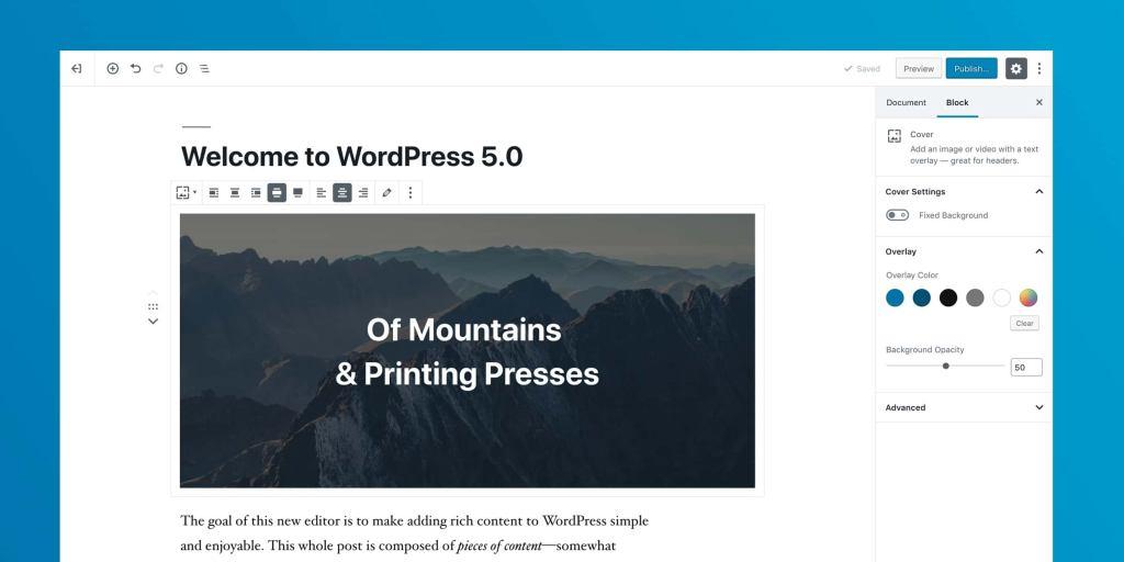 古腾堡-Gutenberg|WordPress全新核心编辑器插件