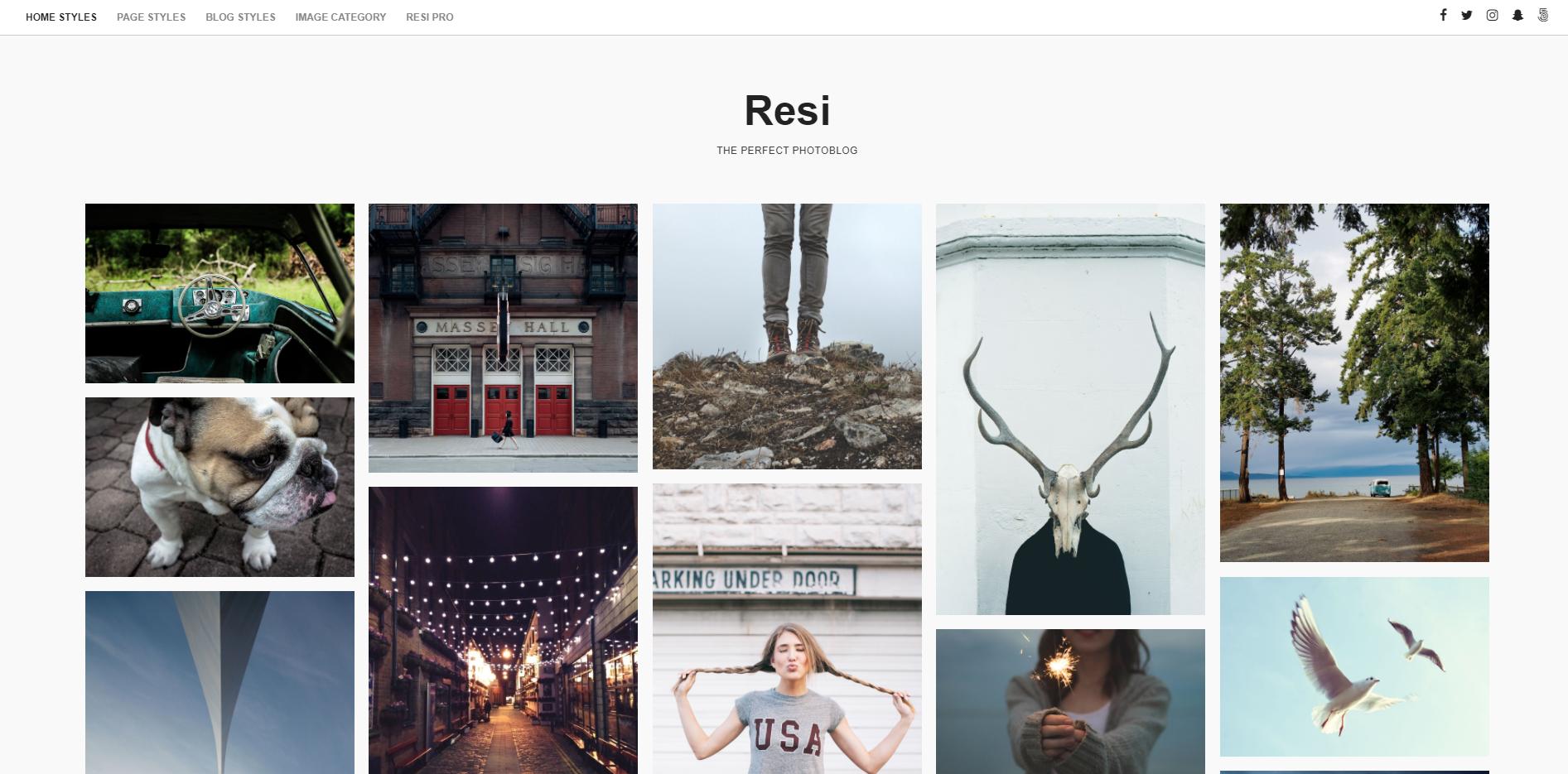 图片博客WordPress主题:Resi